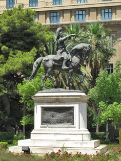 Statue of General Theodoros Kolokotronis,National Historical Museum, Home of the first Greek Parliament (designed by Francois Boulanger), Stadiou Str. in Athens Greece Attica Greece, Athens Greece, Amazing Photos, Cool Photos, National Historical Museum, Athens City, Athens Acropolis, Greek History, Museum Collection