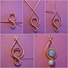 Jewelry Making Tutorials Free Tutorial from Bizsugyár: - Wire Crafts, Jewelry Crafts, Handmade Jewelry, Felt Crafts, Bijoux Wire Wrap, Wire Wrapped Jewelry, Diy Schmuck, Schmuck Design, Copper Jewelry