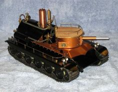A Remote Controlled, Fully Functional, Steam Powered Tank