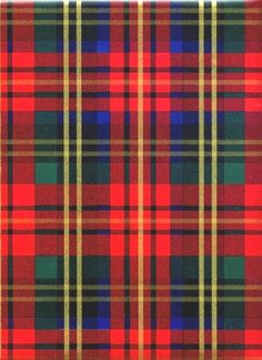 RED PLAID TARTAN HEAVY EMBOSSED GIFT WRAPPING PAPER - 6 ft Folded Sheet #Christmas