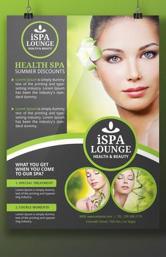 Spa Treatments Flyer Design Market your Spa Creatively YOGNEL Marketplace - Hair Beauty Flyer Design, Spa Design, Design Poster, Banner Design, Spa Brochure, Brochure Design, Peep Show, Beauty Flyer Ideas, Beauty Spa
