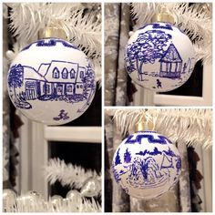 How to make your own Blue and White China Ornaments