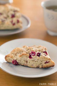 Cranberry Scones - perfect for Christmas morning www.farmtotablela.com