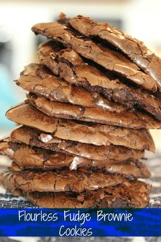 Flourless Fudge Brownie Cookies | delicious!