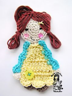 free applique crochet pattern, crochet Vendulka, Magic with hook and needles, crochet patterns, crochet