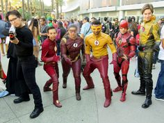 Flash cosplay group at WonderCon 2017.  Con writeup: https://www.hyperborea.org/journal/2017/04/wondercon-2017/