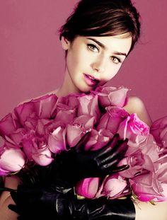 Lily Collins ---pretty portrait!