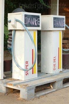 Thema verkeer: Benzinepomp knutselen | thema verkeer knutselen | Verkeer-benzinepomp-verkeersregels?