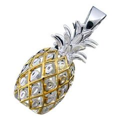 925 Silver Two Tone Large Pineapple Pendant Hawaiian Silver Jewelry Jewelry Box, Jewelery, Silver Jewelry, Jewelry Accessories, Jewelry Necklaces, Jewelry Making, Unique Jewelry, Pineapple Jewelry, Hawaiian Jewelry