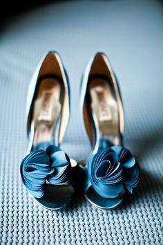 Deep Blue Wedding Shoes