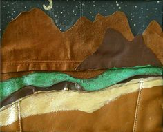 Stars Over Mountains  Made out of Leather Framed in by uniquelyyew, $45.00