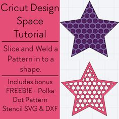 Slice and Weld a Pattern into a Shape in Cricut Design Space + Free Polka Dot Pattern Stencil - SVG & DXF File