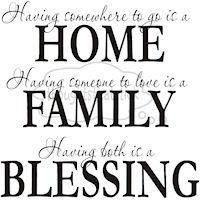 Home + Family = Blessings