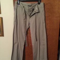 AX pants, size 4, silky thin, EPOC These pants are absolutely gorgeous, thin fabric, light grey and very stylish. Worn 3 times, dry cleaned only. Size 4. Price is firm on these ☺️ Armani Exchange Pants Straight Leg