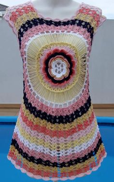 Crochet mandala done step by step as this graphic available in crochet with yarns - FREE PATTERNS