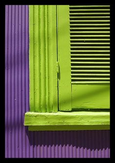 Best color combination EVER.  Purple and green... it doesn't get any better than this!