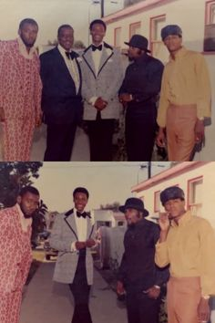 OG Tookie (top, second from right) flanked by a couple homies on his right and far left, during his days as a Boys Youth Counselor in Compton from 1973-76, along with the program's director Fred Shaw Sr. (top, second from left) and his son Fred Shaw Jr. (top, middle).