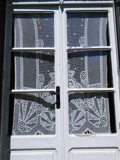 Cotton Lace Curtain Art Deco French Vintage by FromParisToProvence on Etsy