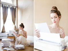 Brumley and Wells Via Green Wedding Shoes: Love the concept