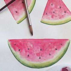 Watermelon watercolor  #watercolor #watercolorpainting  #art #watermelon  #handpainted  #graphicdesign  #watercolorgraphic  #artdownload  #paint #etsy #watercolorwatermelon  #watercolorfruit  #watercolour