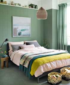 Make fun bedroom with your small bedroom interior design. The small bedroom is challenging space for design. You need to create effective design that will Couple Bedroom, Small Room Bedroom, Room Ideas Bedroom, Small Rooms, Home Decor Bedroom, Modern Bedroom, Small Space, Small Bedroom Paint Colors, Ethnic Bedroom