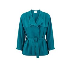 Jacket with 3/4 sleeves emerald green - Promod