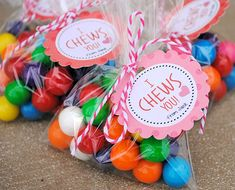 I Chews You Valentine Idea and Printable - would also be cute with Starburst or other chewy candy.