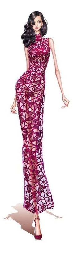 Such a stunning fashion Illustration #fashionbloggers #cbloggers #illustration #art