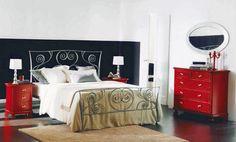 http://www.ireado.com/stylish-wrought-iron-bedroom-furniture/ Stylish Wrought Iron Bedroom Furniture : Gray Bontempi Macrame Wrought Iron Bed Against Charcoal Wall Wrought Iron Bedroom Furniture