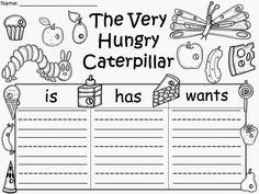Free: The Very Hungry Caterpillar sentence organizers.  Not for profit...for educational purposes only. Enjoy! Regina Davis aka Queen Chaos at Fairy Tales And Fiction By 2.