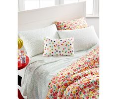 Martha Stewart Whim Collection Pretty in Poppy Bedding Collection - Bed in a Bag - Bed & Bath - Macy's