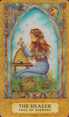 Chrysalis Tarot - page of mirrors (The Healer)