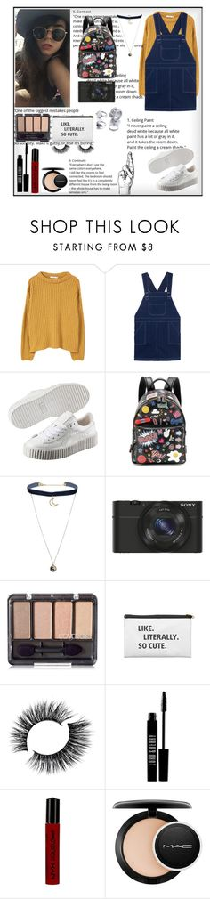 """""""👝"""" by noypint ❤ liked on Polyvore featuring MANGO, Puma, Anya Hindmarch, Topshop, Sony, Lord & Berry, NYX, MAC Cosmetics and vintage"""