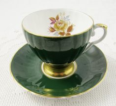 Hey, I found this really awesome Etsy listing at https://www.etsy.com/listing/451645334/royal-grafton-green-tea-cup-and-saucer