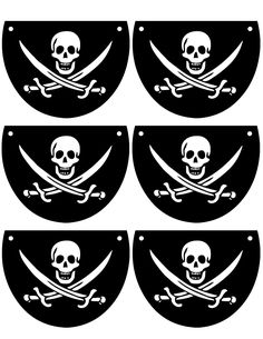 In need of eye patches for your next Pirate Party?                                                                                                                                                                                 More