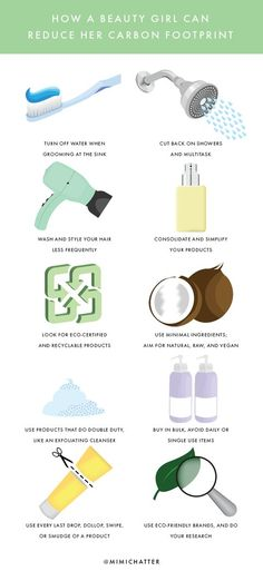 How a Beauty Girl Can Reduce Her Carbon Footprint from InStyle.com
