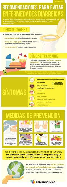 Recomendaciones para evitar enfermedades diarreicas #infografia