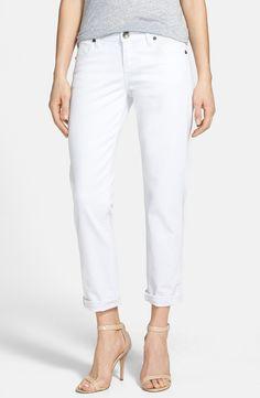 KUT from the Kloth 'Catherine' Boyfriend Jeans (White) (Regular & Petite)