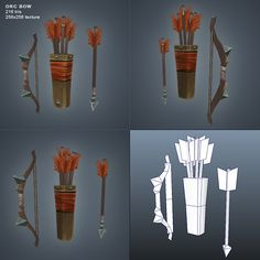 Orc Bow Low Poly - 3DOcean Item for Sale - $8
