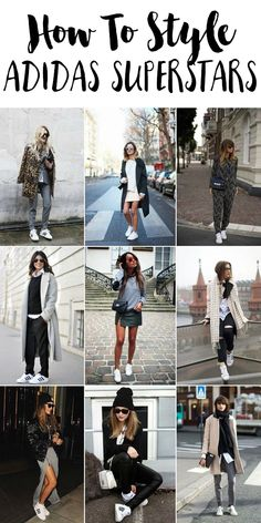 How to wear adidas superstar trends sport chic, adidas shoes Fashion Moda, Look Fashion, Autumn Fashion, Fashion Outfits, Womens Fashion, Fashion Trends, Fashion Shoes, Street Fashion, Adidas Superstar Outfit
