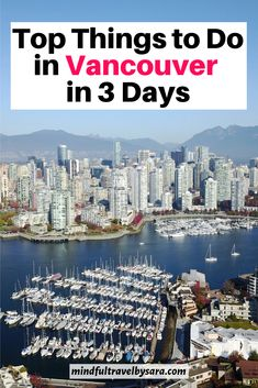 Spending 3 days in Vancouver? This 3 day Vancouver Itinerary features the highlights of Vancouver and What to Do in Vancouver in 3 Days. 3 days in Vancouver | Vancouver in 3 days | three days Vancouver | Vancouver 3 day itinerary | Vancouver Travel | Top attractions in Vancouver | Best things to do in Vancouver Canada | Vancouver itinerary | weekend in Vancouver BC | Vancouver Travel Guide | 3 day Vancouver trip #vancouvertravel #canadatravel #vancouver Vancouver Travel, Canada National Parks, Visit Canada, Prince Edward Island, Newfoundland, Banff, Canada Travel, Travel Guide, Day