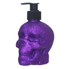 Glitter Skull Molded Soap $3.99 #Gordmans #Halloween #HalloweenDecor #Skull #Soap #Sparkle