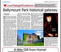 Once again it was a treat to see another one of my previous articles being recycled for inclusion in the local Tallaght Echo newspaper as part of the weekly  'Love Tallaght Outdoors' series. Previo...