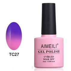 AIMEILI Soak Off UV LED Temperature Color Changing Chameleon Gel Nail Polish - Dark Clouds (TC27) 10ml *** Don't get left behind, see this great  product : wedding Makeup