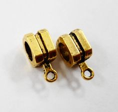 Gold Necklace Bails 11x5mm Antique Gold Bails, Gold Jewelry Bails, Square Bails, Jewelry Findings, Jewelry Making, Beading Supplies, 10pcs by BusyBeeBeadSupplies on Etsy