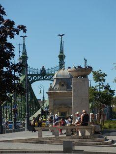 Fővám Square, by the Liberty Bridge, Budapest