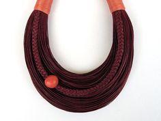 Statement Fiber Necklace, Minimalist Jewelry, Wearable Art, Urban Style, Street Fashion, Trending Necklace, Bold Necklace