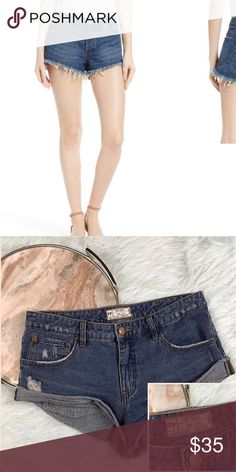 Free People Cut Off Denim Jean Shorts Love these shorts but they are too big. No flaws, beautiful staple piece for spring and summer. Similar pair selling for $68 at Nordstrom. Free People Shorts Jean Shorts
