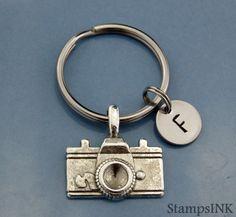 Camera Keychain  Photographer Gift Keychain Custom by StampsINK