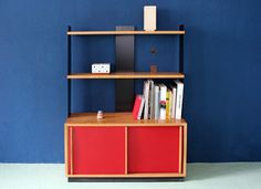Anbauregal von Wilhelm Kienzle Swiss Design, Bookcase, Shelves, Home Decor, Shelf, Homes, Shelving, Decoration Home, Room Decor